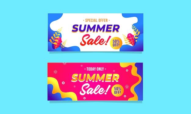 Plantilla de banner venta conjunto de promoción Vector Premium