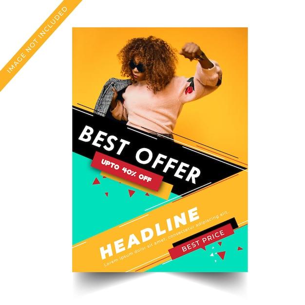 Plantilla de banner de venta moderno colorido Vector Premium
