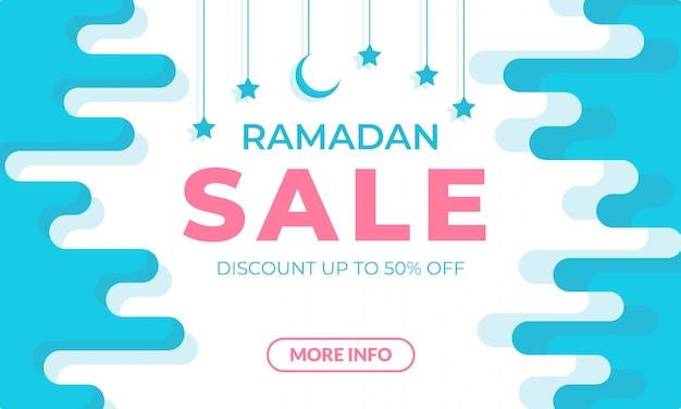 Plantilla de banner de venta de ramadán Vector Premium
