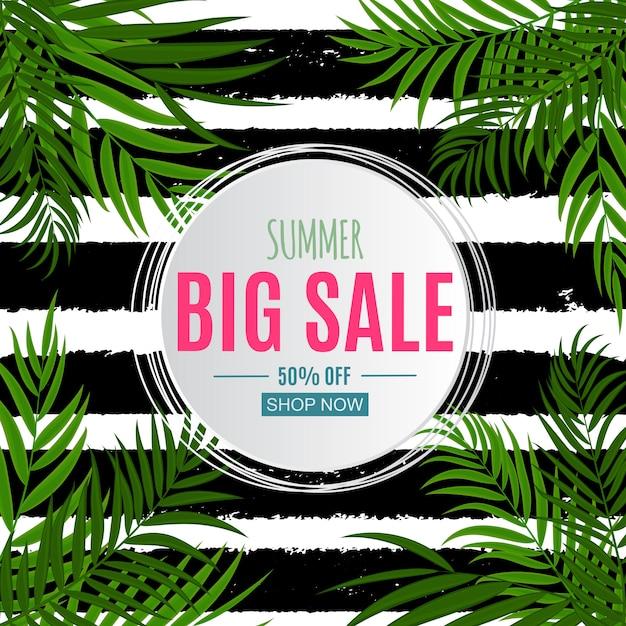 Plantilla de banner de venta de verano abstracto colorido Vector Premium
