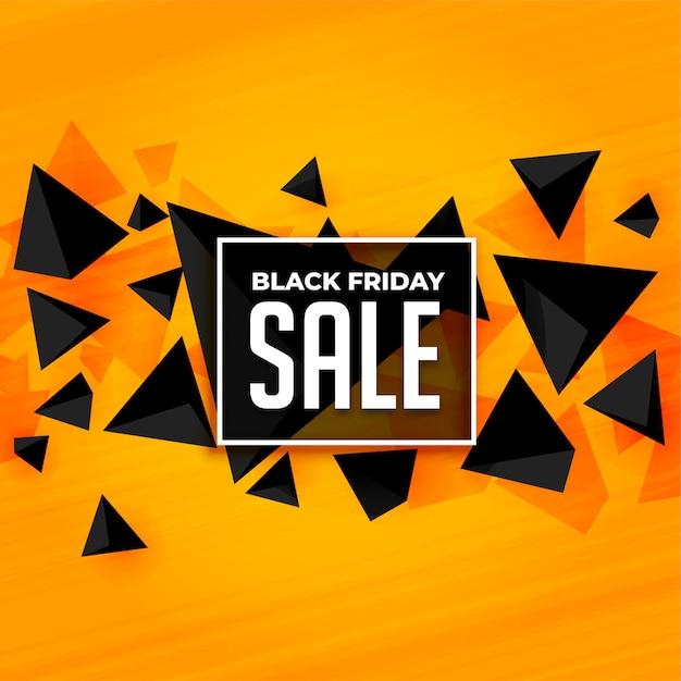 Plantilla de banner de venta de viernes negro de estilo abstracto vector gratuito