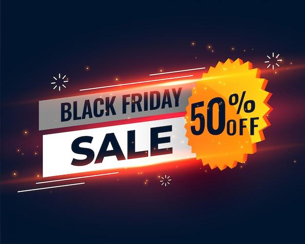 Plantilla de banner de venta de viernes negro vector gratuito