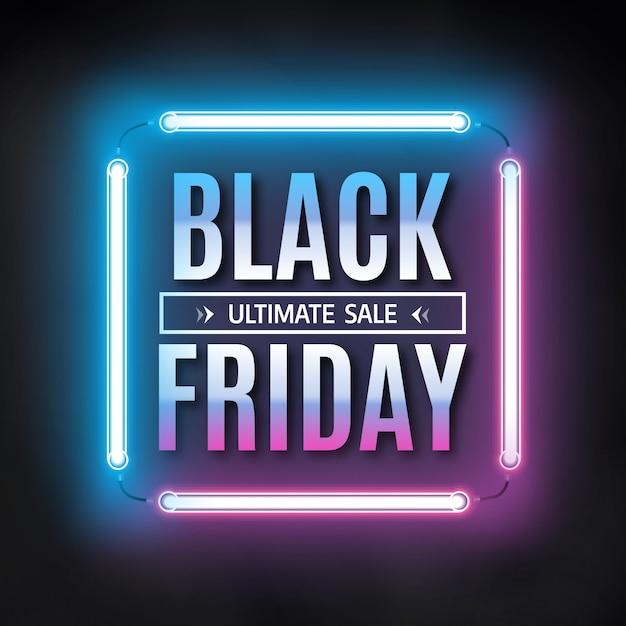 Plantilla de banner de venta de viernes negro Vector Premium