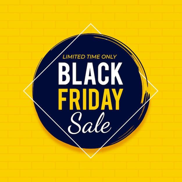 Plantilla de banner de venta de viernes negro. Vector Premium