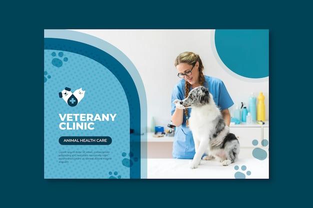 Plantilla de banner veterinario vector gratuito
