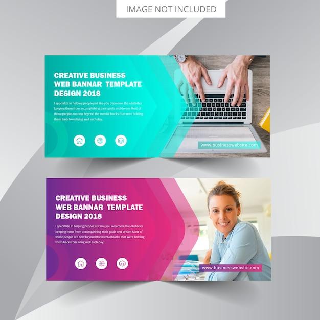 Plantilla de banner web empresarial Vector Premium