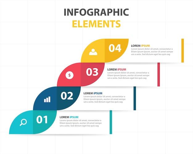 Plantilla de banners infográficos de negocios vector gratuito