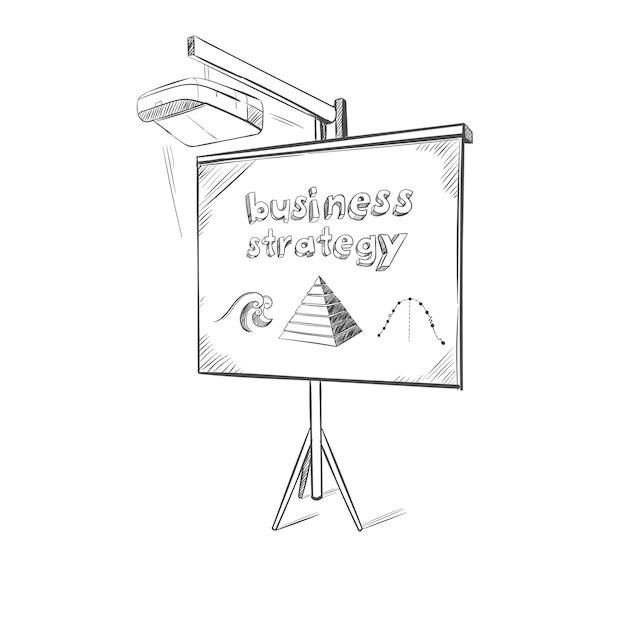 Plantilla de boceto de presentación de negocios vector gratuito