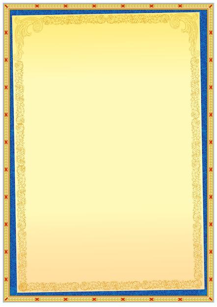 plantilla de borde de marco decorativo para diplomas o