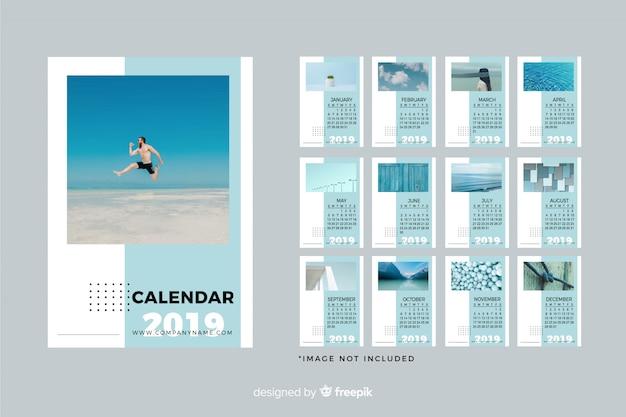 Plantilla de calendario 2019 vector gratuito