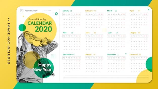 Plantilla de calendario personal minimalista Vector Premium