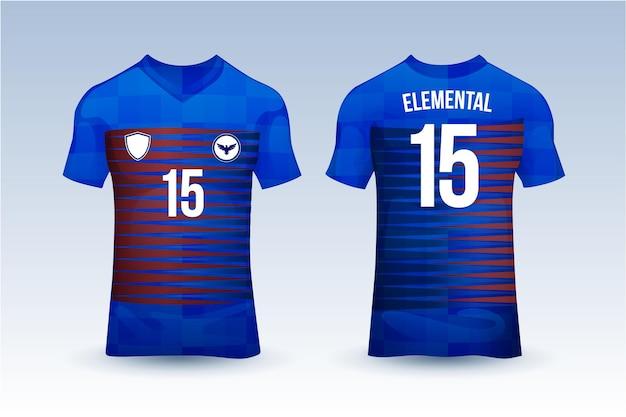 Plantilla de camiseta de fútbol Vector Premium