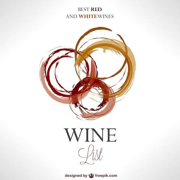 Plantilla carta de vinos Vector Premium