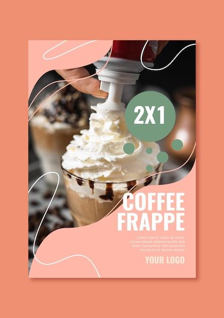 Plantilla de cartel para cafetería vector gratuito