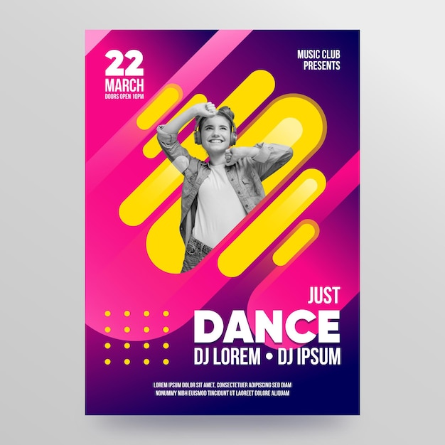 Plantilla de cartel de evento musical 2021 Vector Premium