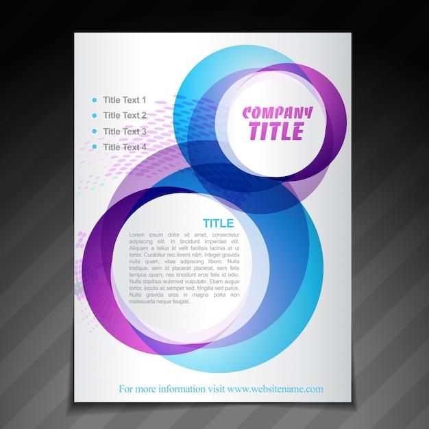Plantilla del cartel del folleto de la empresa vector gratuito