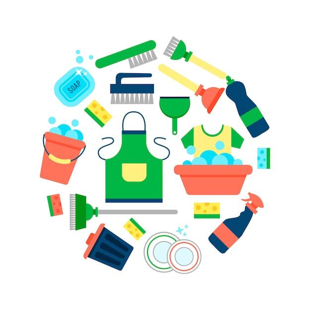 Plantilla de cartel para servicios de limpieza de casas - Imagenes de limpieza de casas ...