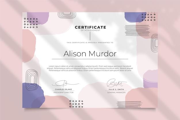 Plantilla de certificado de estilo moderno vector gratuito