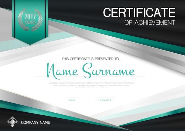 Plantilla de certificado de logro vector gratuito