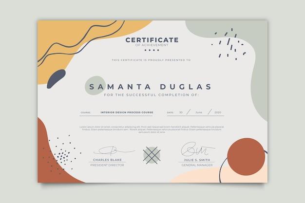 Plantilla de certificado moderno vector gratuito