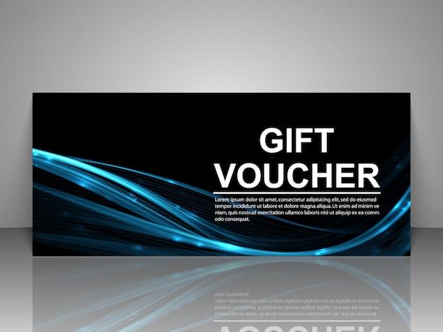 Plantilla de cheque regalo. Vector Premium