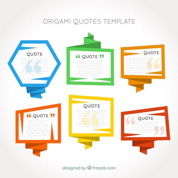 Download Favorite Qoute: Plantilla De Citas En Marcos Origami