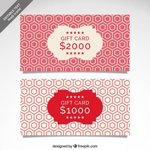 Plantilla cmyk de tarjeta regalo | Descargar Vectores gratis