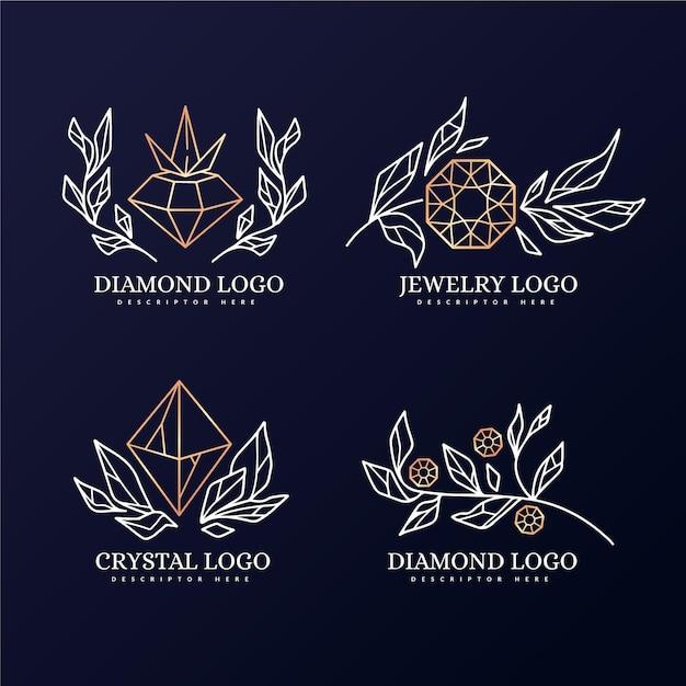 Plantilla de colección de logo de diamante vector gratuito