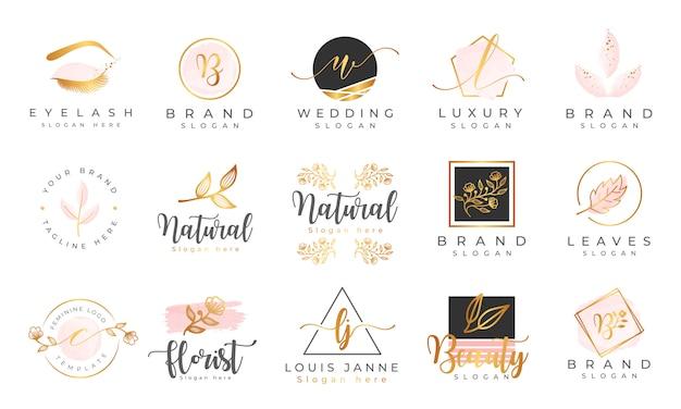 Plantilla de colecciones de logotipos femeninos Vector Premium