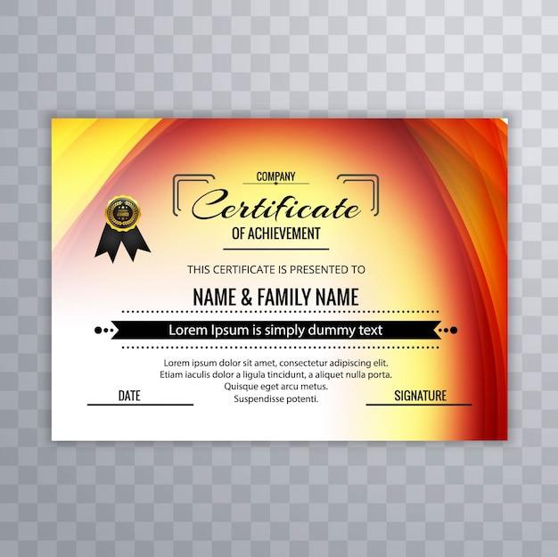 Plantilla colorida de certificado de logro | Descargar Vectores gratis