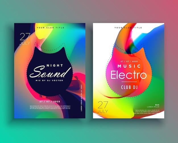 Plantilla colorida de flyer de fiesta electrónica | Descargar ...