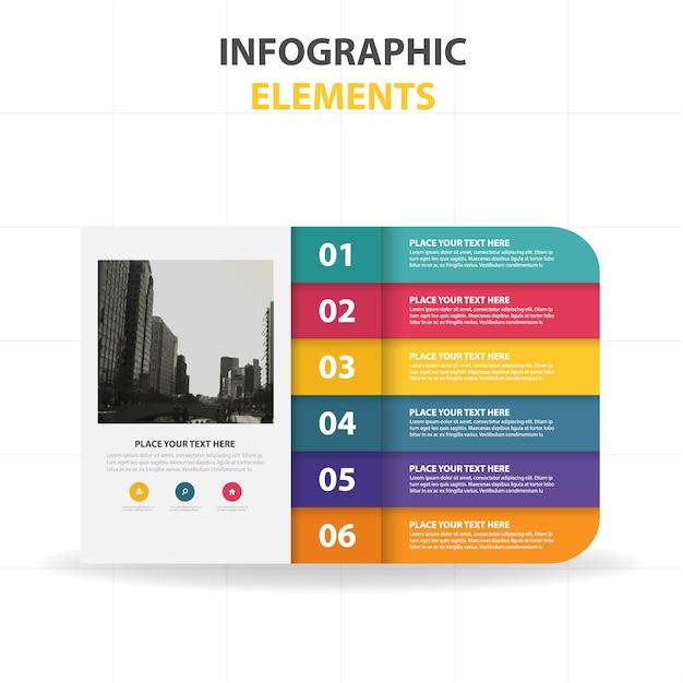 Plantilla colorida infográfica con pasos Vector Gratis
