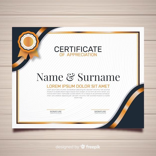 Plantilla creativa de certificado vector gratuito
