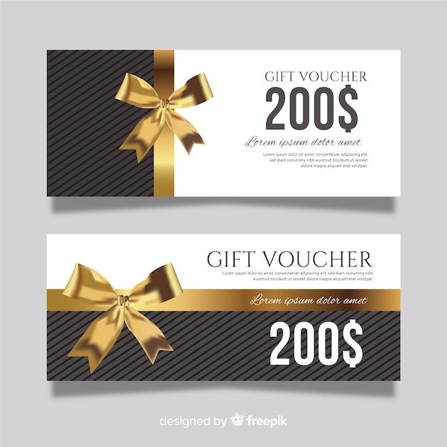 Plantilla de cupón de regalo con estilo moderno vector gratuito