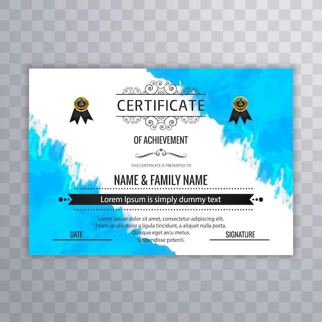 Plantilla de acuarela de certificado de logro | Descargar Vectores ...