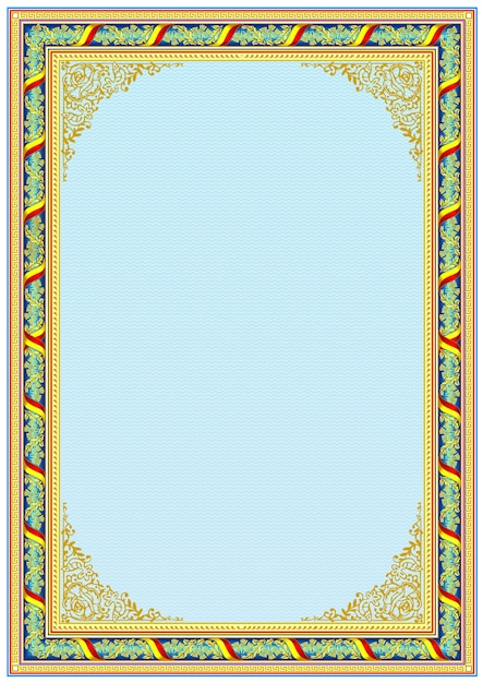 Plantilla de borde de marco decorativo para diplomas o certificados ...