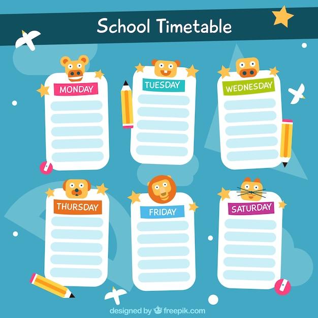 Plantilla de calendario escolar para organizar actividades ...