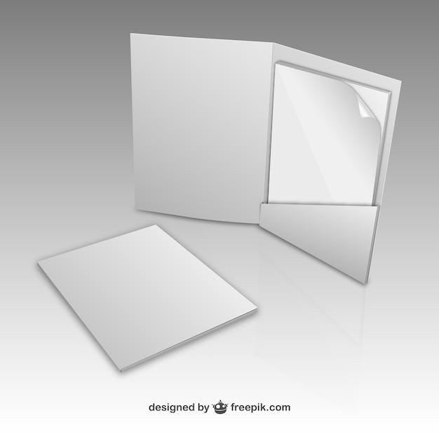 Plantilla de carpeta de papel | Descargar Vectores gratis