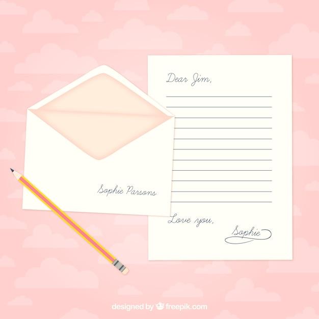 Plantilla de carta de amor | Descargar Vectores gratis