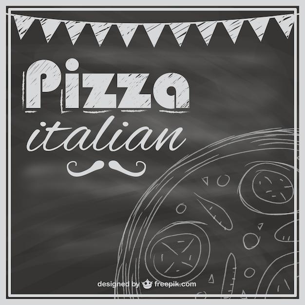Plantilla de carta de pizzas con textura de pizarra | Descargar ...