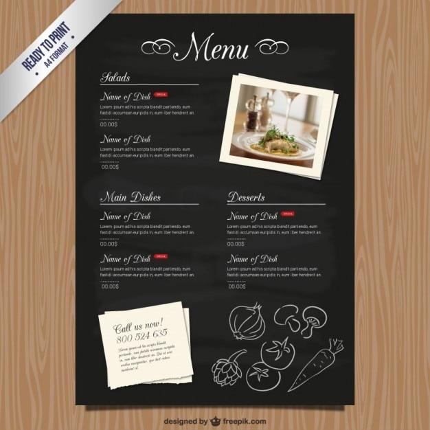 Plantilla de carta de restaurante CMYK | Descargar Vectores gratis