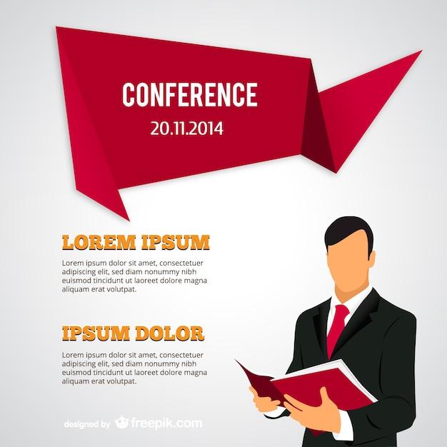 Plantilla de cartel de conferencia   Descargar Vectores gratis