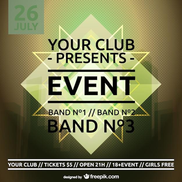 Plantilla de cartel de evento | Descargar Vectores gratis