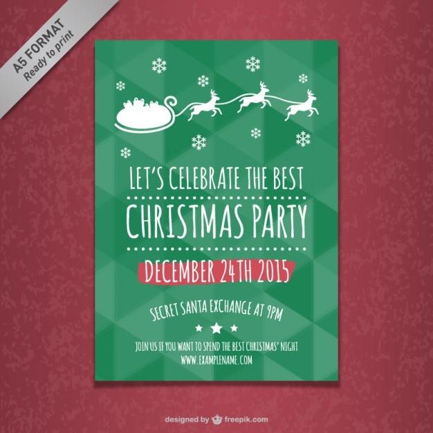 Plantilla de cartel de fiesta de navidad   Descargar Vectores gratis