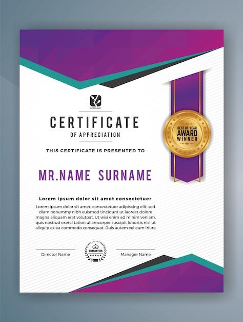 Plantilla de certificado de logro moderno vertical | Descargar ...