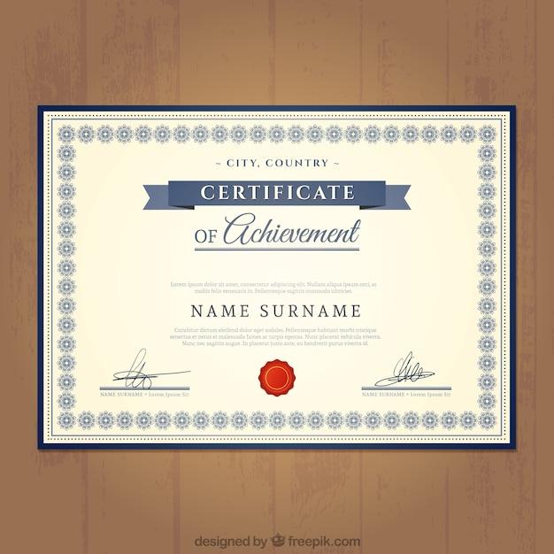 Plantilla de certificado de logro | Descargar Vectores gratis