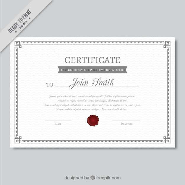 Plantilla de certificado de logros decorativa | Descargar Vectores ...