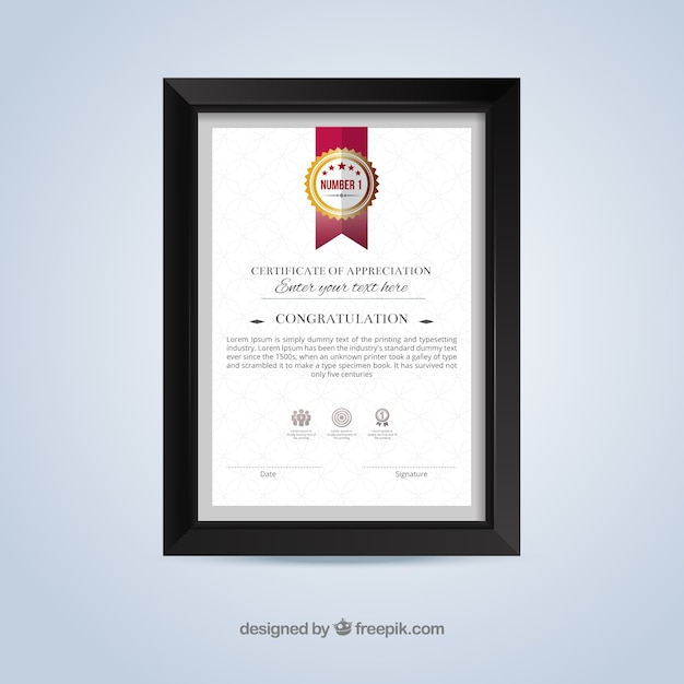 Plantilla de certificado de reconocimiento | Descargar Vectores gratis
