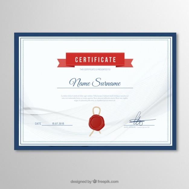 Plantilla de certificado elegante | Descargar Vectores gratis