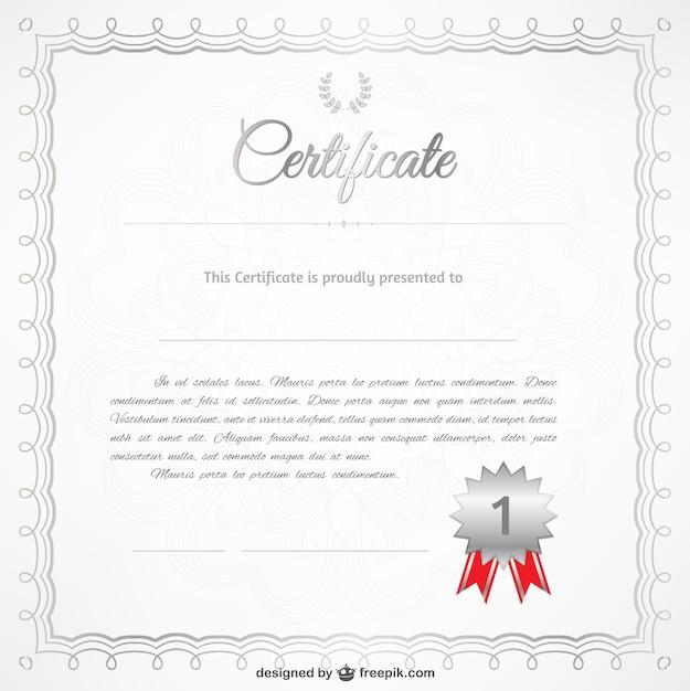 Plantilla de certificado gratis | Descargar Vectores gratis